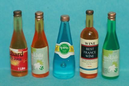 Flaschen gemischt - 5 Stück, 1:12