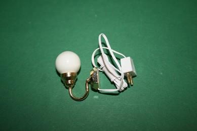 Wandlampe m. weißer Kugel, 12 Volt