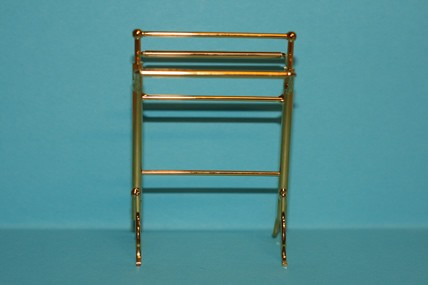 Handtuchständer, Metall (Messing, gold), 1:12