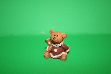 Weihnachtsbär mit Glocke, Kunstharz
