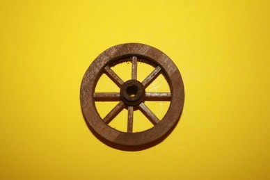 Speichen-Holzrad, Holz braun