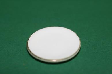 Porzellan-Teller, weiß/Goldrand