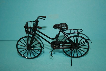 Fahrrad Metall, schwarz, 1:12