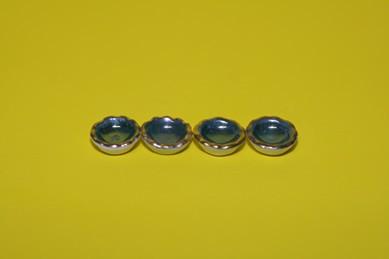Mini-Schälchen, grün/Goldrand - 4 Stück