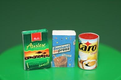 Packungen Caro-Kaffee, Auslese und Kakao, 1:12