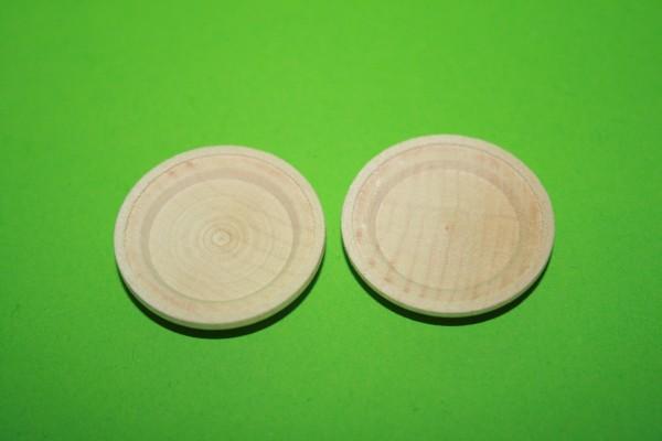 Holzteller, 2 Stück