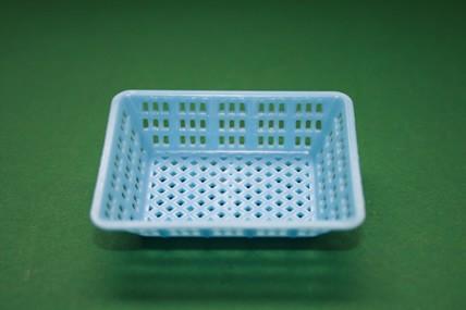 Plastik-Korb hellblau, eckig