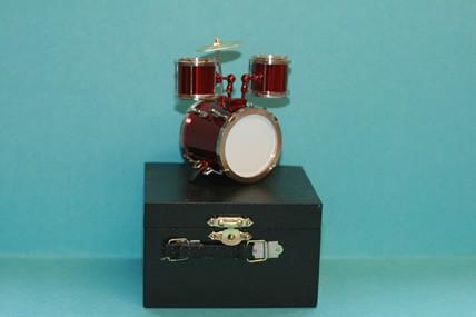 Schlagzeug-Set, rot, ohne Koffer, 1:12
