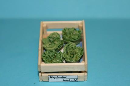 Kiste mit Kopfsalat, 1:12