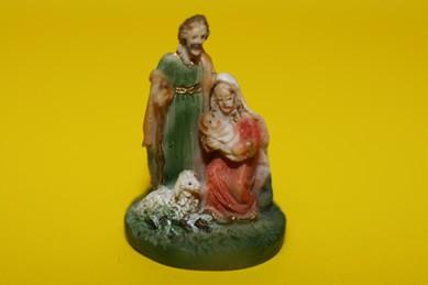 Mini-Krippe mit Schaf, Maria rechts