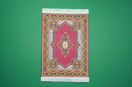 Webteppich klein, bord., Ornament dunkel, passend zu Art. 4389