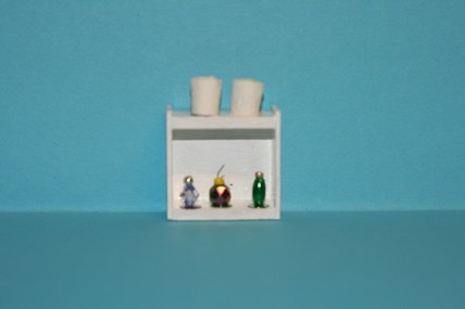 Badezimmer-Schränkchen, mit Accessoires, 1:12