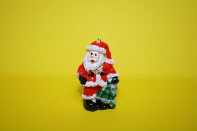 Weihnachtsmann/Nikolaus mit Tanne, Keramik