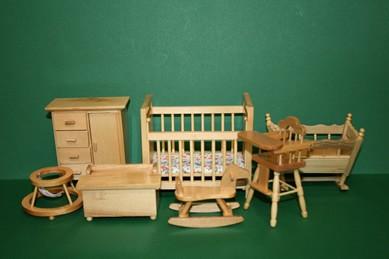 Kinderzimmer, Pinie lackiert, 7-teilig