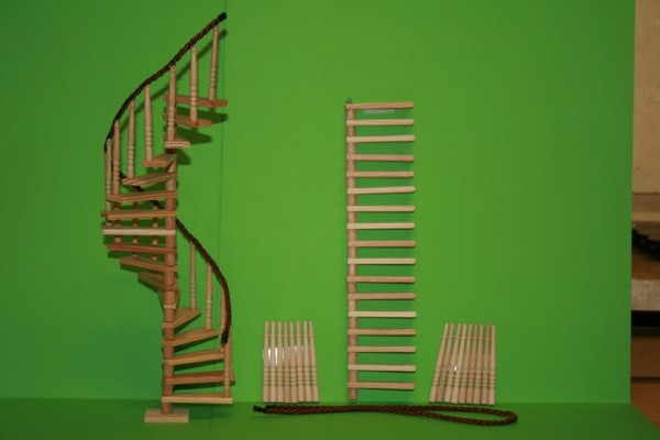 Wendeltreppe Bausatz, Holz roh