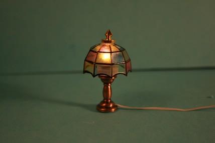 "Tischlampe ""Tiffany"", bunt, 1:12"