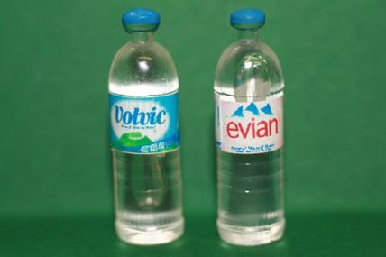 Wasserflaschen rund, Kunststoff - 2 Stück sortiert