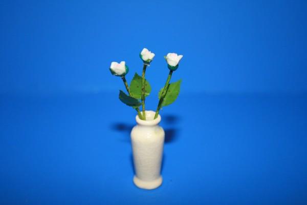 Miniatur weiße Rosen 1:12