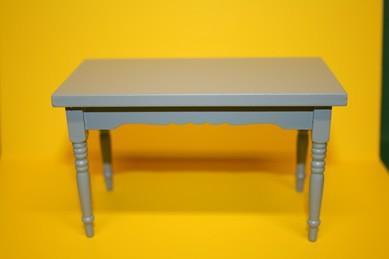 Tisch blau, rechteckig