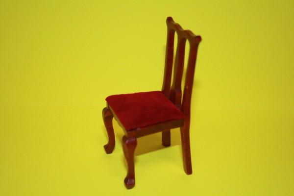Miniatur Polsterstuhl ohne Armlehnen 1:12