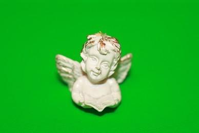 Engel-Büste mit Buch, Polyresin
