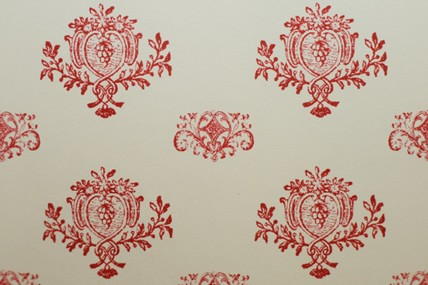 """Tapete """"Medaillons"""", beige/rot"""