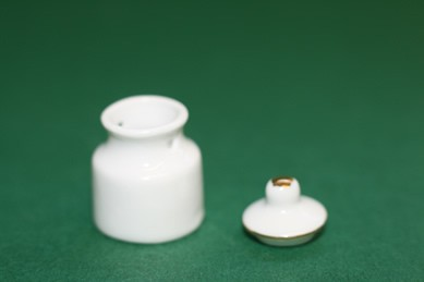 Vorratsdose weiß, Porzellan