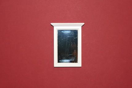 Badezimmerspiegel, Holz, weiß, 1:12