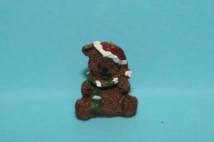Mini-Weihnachtsbär, Kunstharz, 1:12