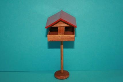 Vogel-Futterhaus Holz, 1:12
