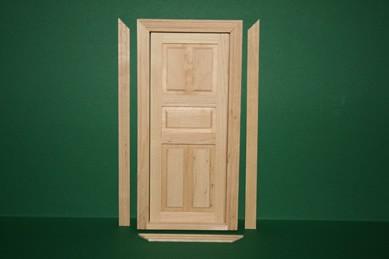 Innentüre mit Innenrahmen, Holz roh