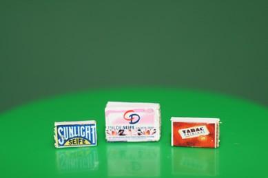 Seifenpackungen CD, Sunlight und Tabac, 1:12