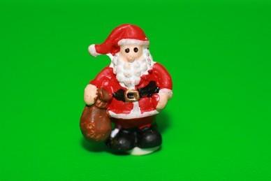 Weihnachtsmann mit Sack, Polyresin