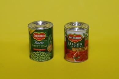 Gemüsekonserven, Metall - 2 Stück