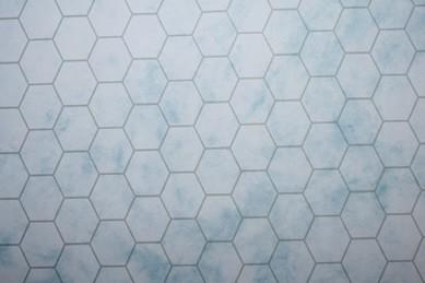 Tapete grau-blau, Wabenmuster, 1:12