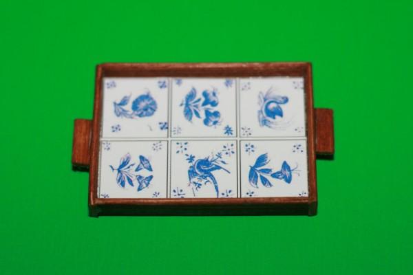 Miniatur Tablett Deflt 1:12
