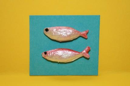Fisch rosa/silber - 2 Stück