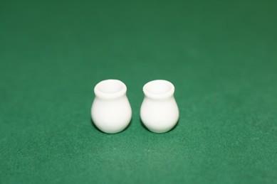 Mini-Vase weiß, Porzellan -4 Stück