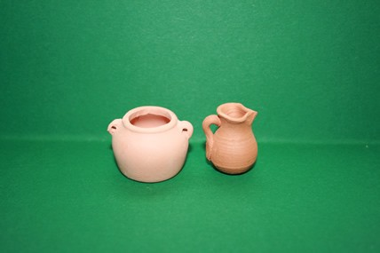 Terracotta Vasen - 2 Stück