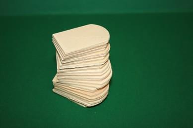 Dachschindeln, Holz - 25 Stück