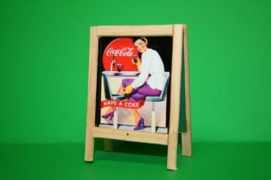 "Reklame Reiter Coca-Cola ""Have a Coke"", Holz"