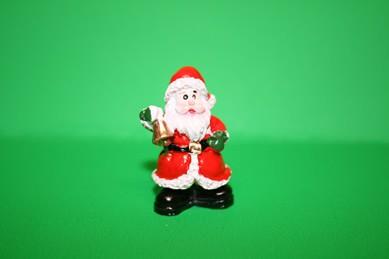 Weihnachtsmann/Nikolaus mit Glocke, Kunstharz