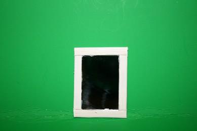 Spiegel, Rahmen Holz weiß lackiert