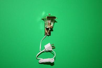 Außen-Wandlampe, goldfarben/Kunststoff, 12 Volt