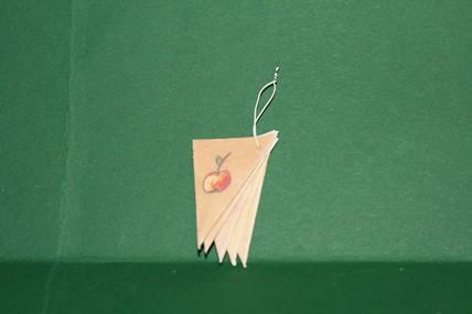 Einkaufstüten bedruckt - 5 Stück, 1:12