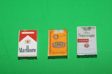 Zigaretten-Packungen - 3 Stück, Reval, Marlboro, Stuyvesant
