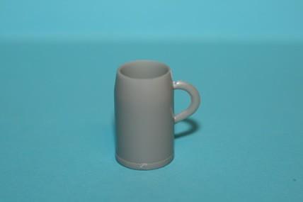 Maßkrug groß, Kunststoff grau