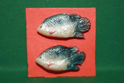 Fisch blau/silber - 2 Stück