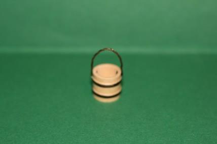 Mini-Holzeimer mit Henkel, natur, 1:12