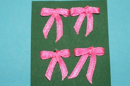 Schleifchen pink - 4 Stück
